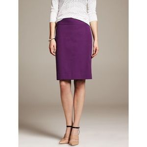 Banana Republic Sloan Pencil Skirt in Purple 10